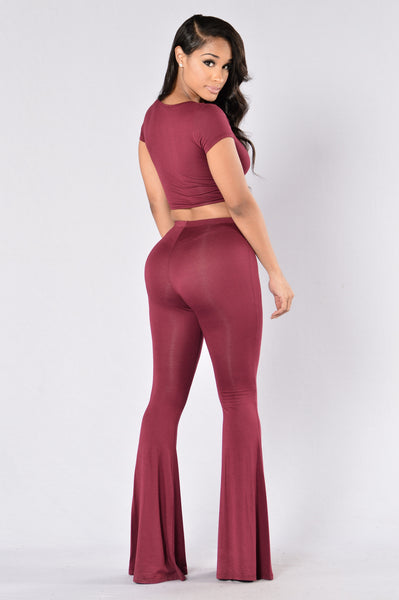 Trippy Chic Set - Burgundy