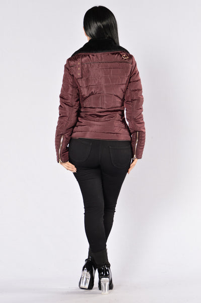 Sugar Plum Jacket - Wine