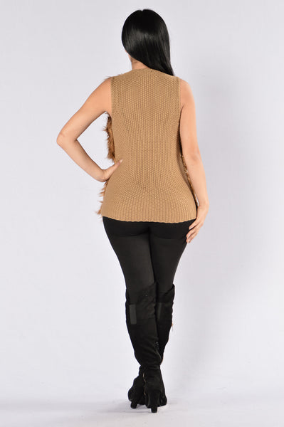 Rule The World Vest - Brown