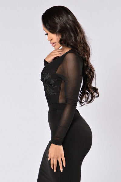Downtown Girl Bodysuit -Black
