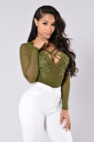 Downtown Girl Bodysuit - Olive