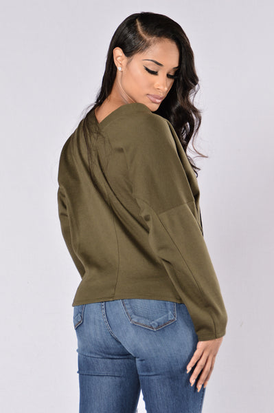 Believe Top - Olive