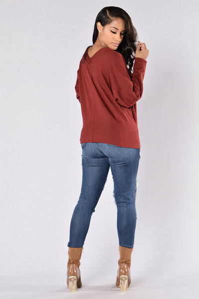 Believe Top - Burgundy