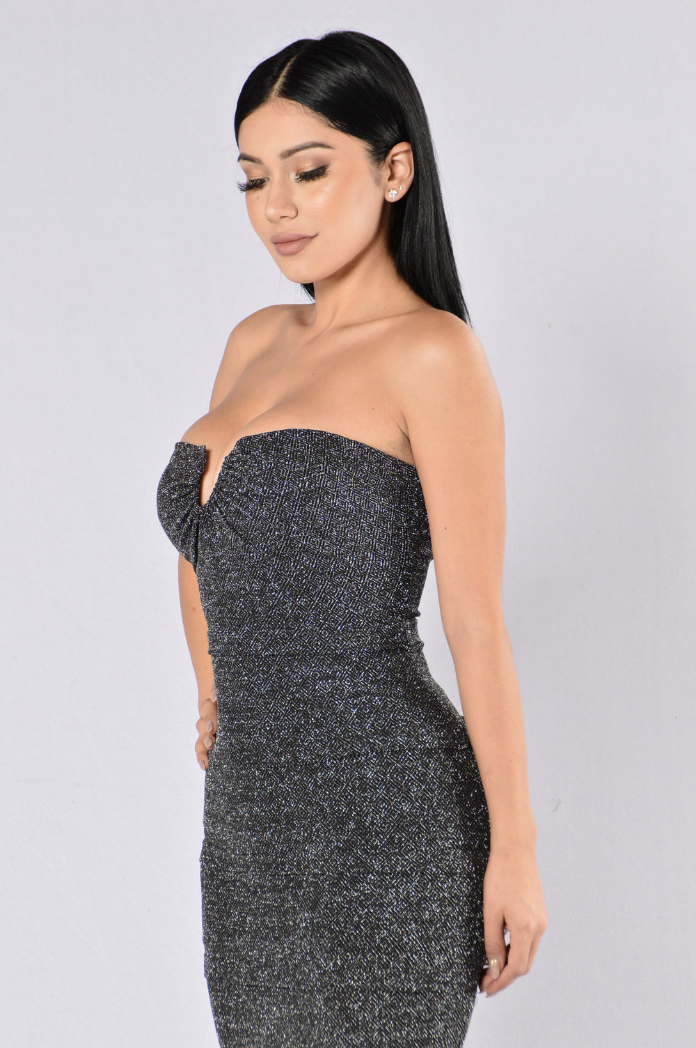 In Love With You Dress - Silver/Black