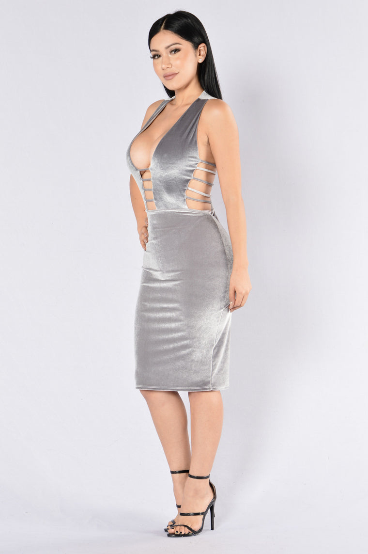 Love Me Harder Dress - Silver