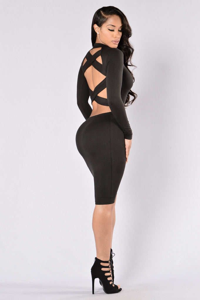 Two Sided Dress - Black