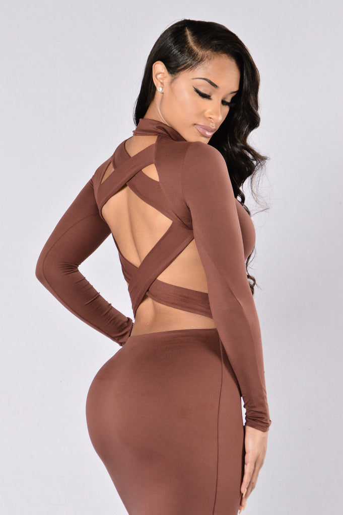 Two Sided Dress - Brown