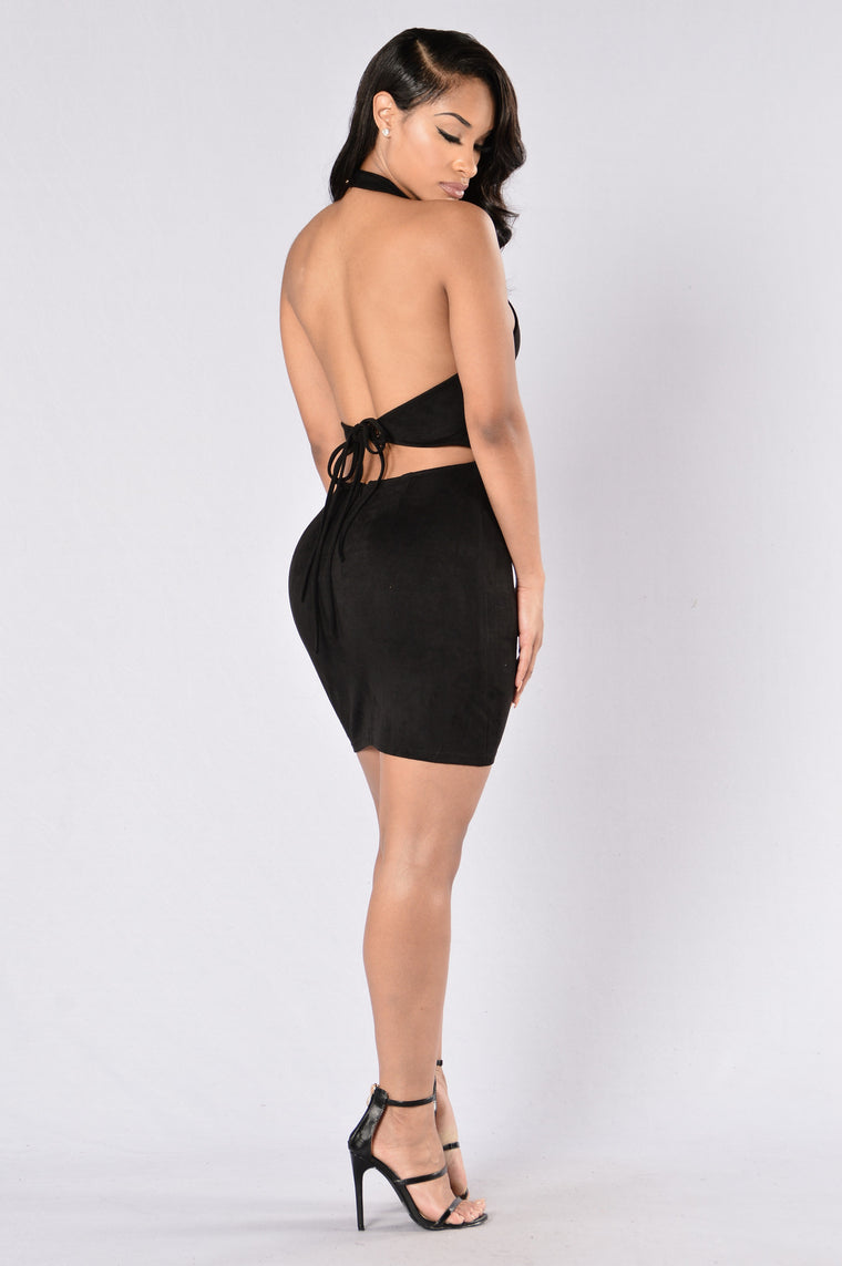 Hold It Against Me Dress - Black