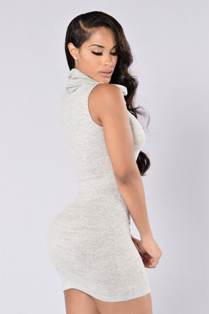 Love Is In Control Dress - Heather Grey