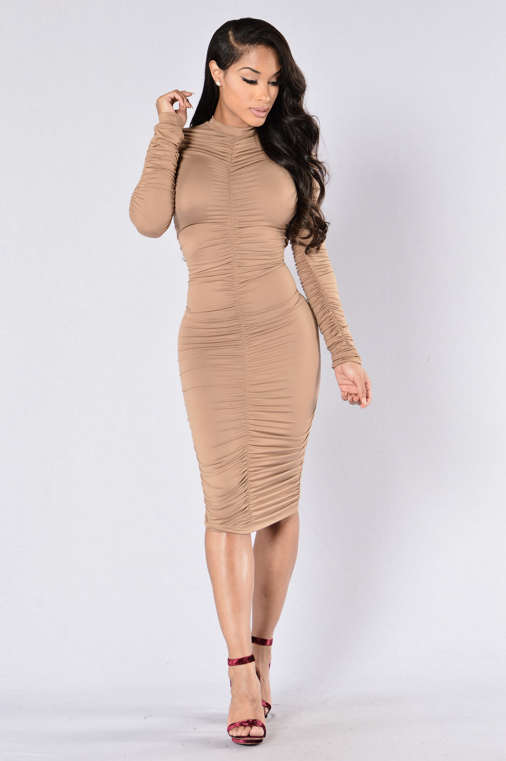 Show Stopper Dress - Taupe