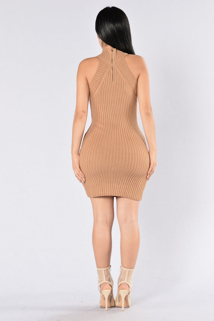 Kiss It Better Dress - Tan