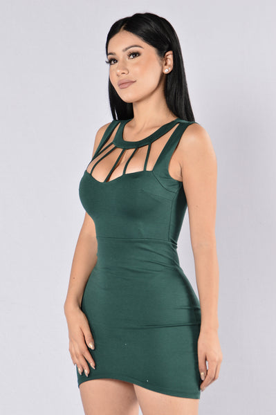 Alessa Dress - Hunter Green