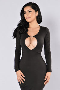 Play With Fire Dress - Black Angle 4