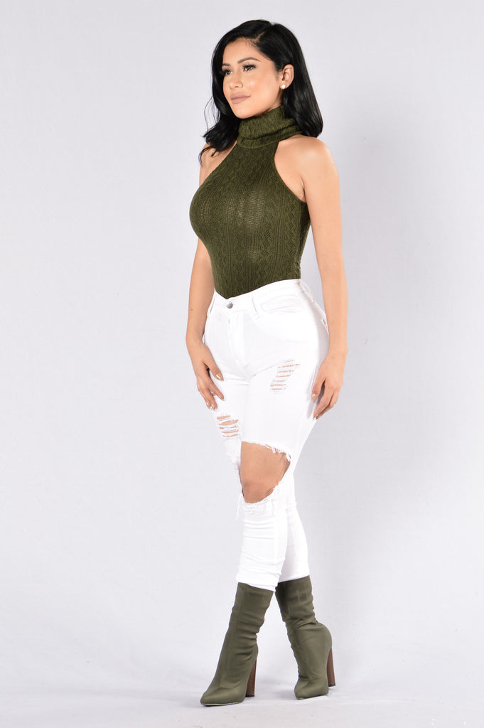 Hide In Your Shell Bodysuit - Olive