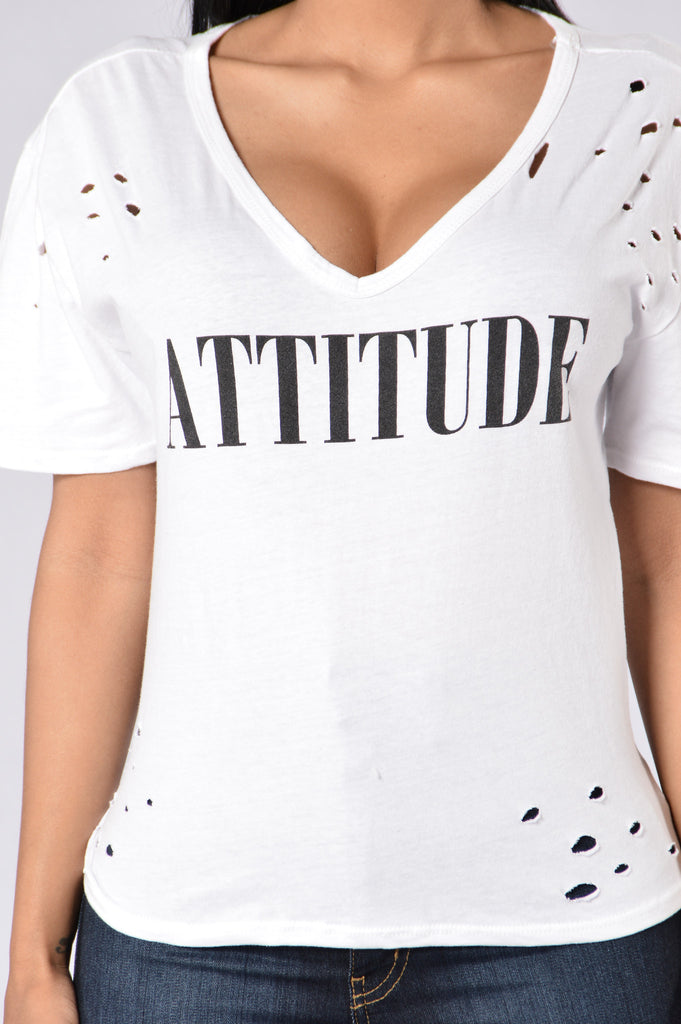 With An Attitude Tee - White