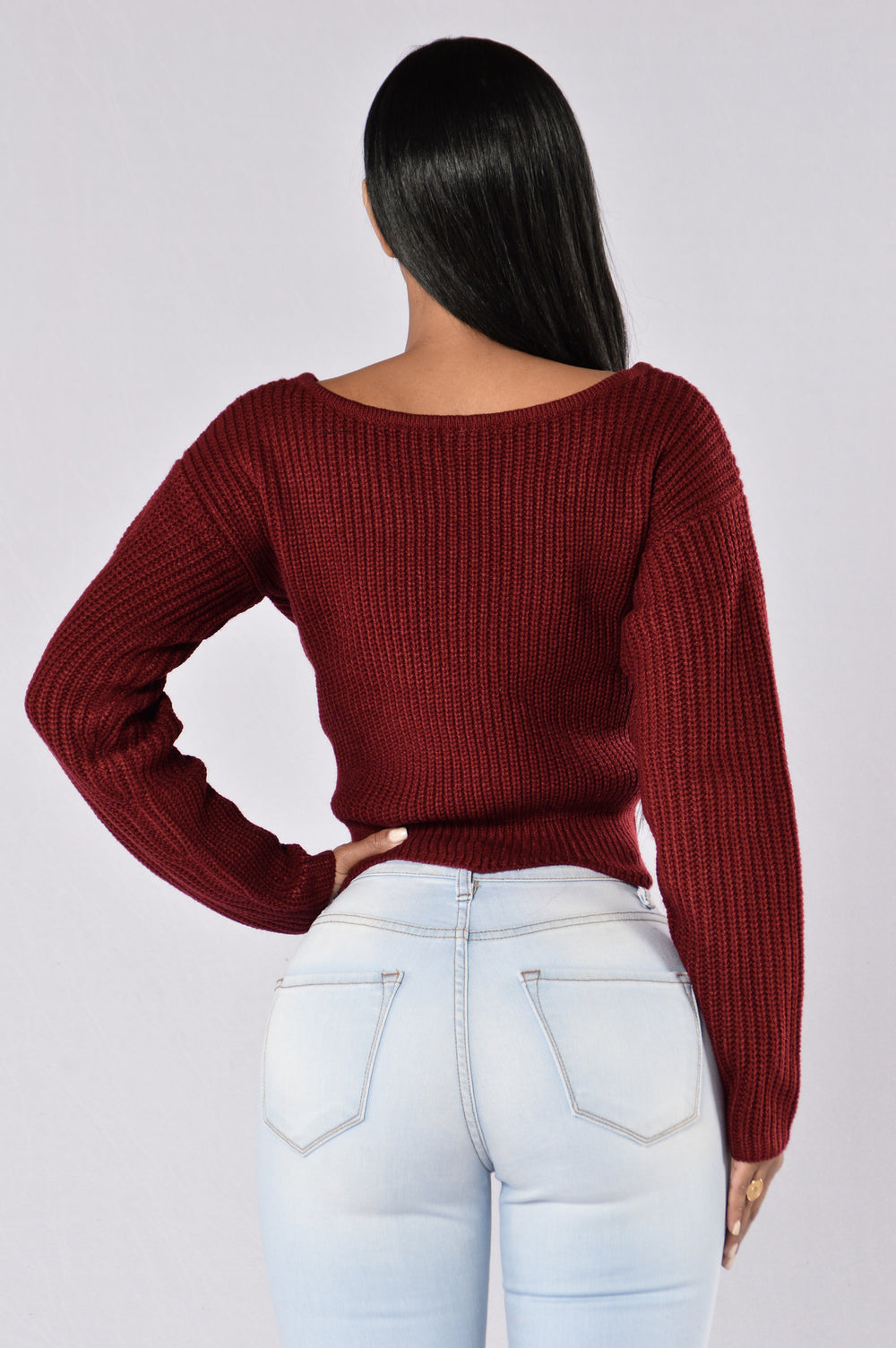 Voodoo Sweater - Burgundy