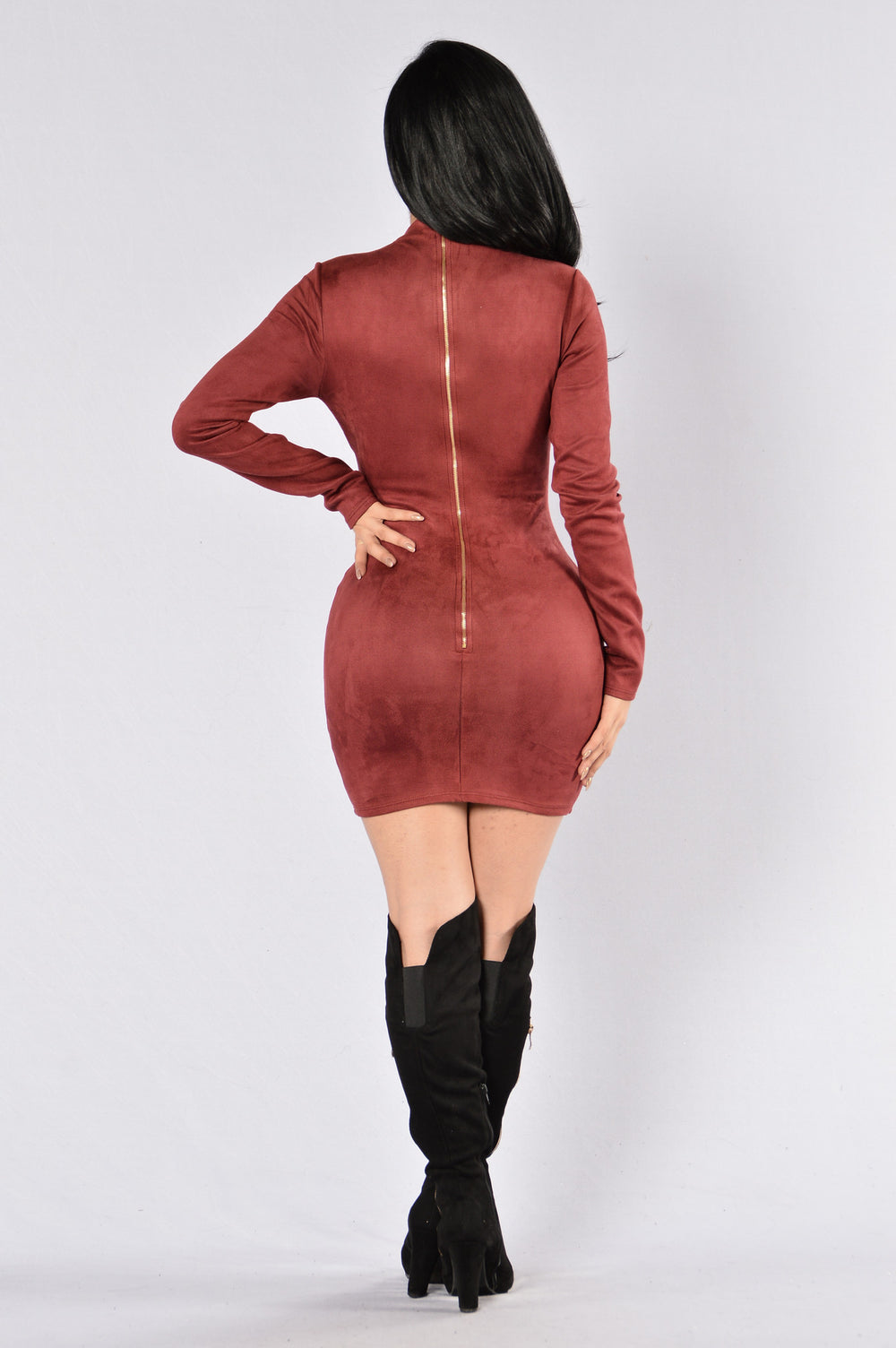 Feeling Amazing Dress - Dark Wine