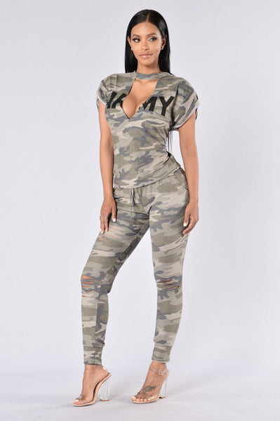Love Battle Top - Army