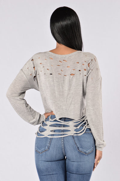 Adrenaline Junkie Top - Heather Grey