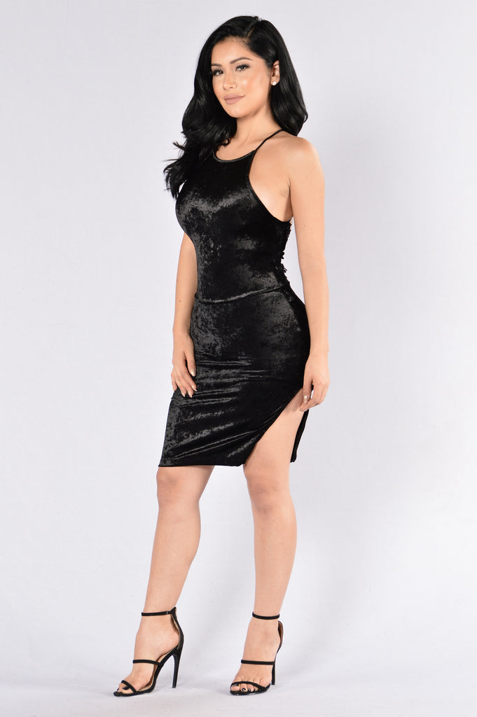 Crush Your Dreams Dress - Black