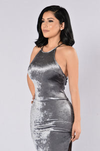 Crush Your Dreams Dress - Charcoal