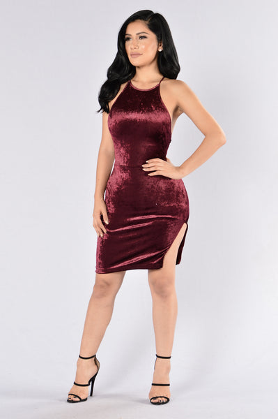 Crush Your Dreams Dress - Wine