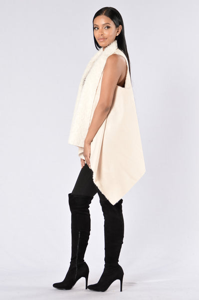 Wolf in Sheep's Clothing Vest - Cream
