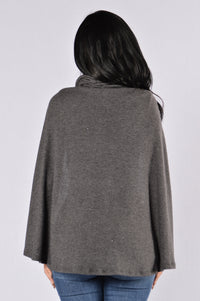 Cub Sweater - Charcoal Angle 6