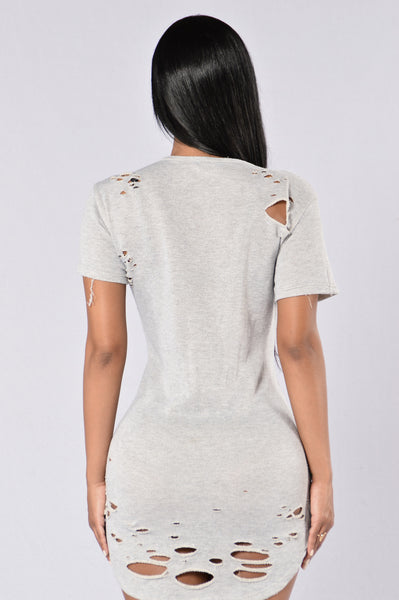 Mass Destruction Tunic - Light Grey