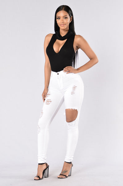 Share The Wine Bodysuit - Black