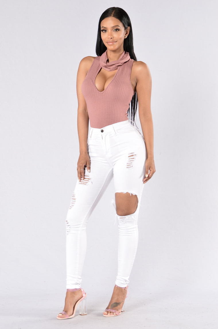 Share The Wine Bodysuit - Mauve