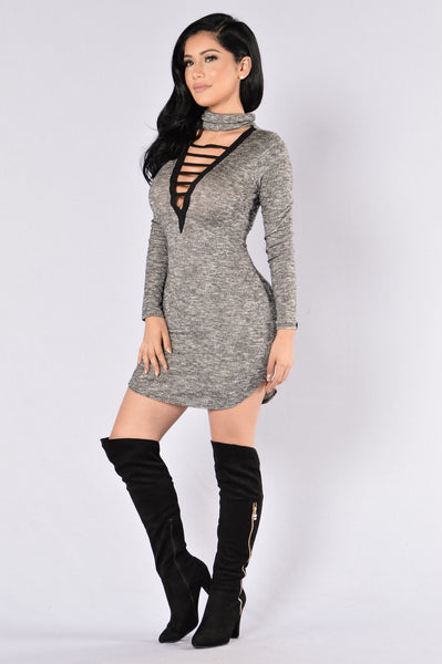 Gloomy Skies Dress - Black
