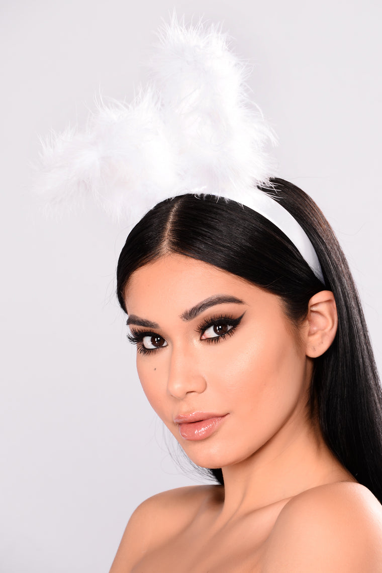 Fluff Me Up Headband - White