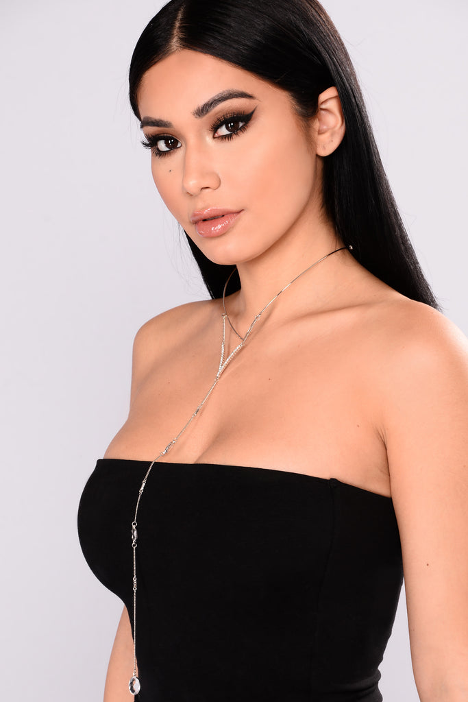 neda layered necklace silver