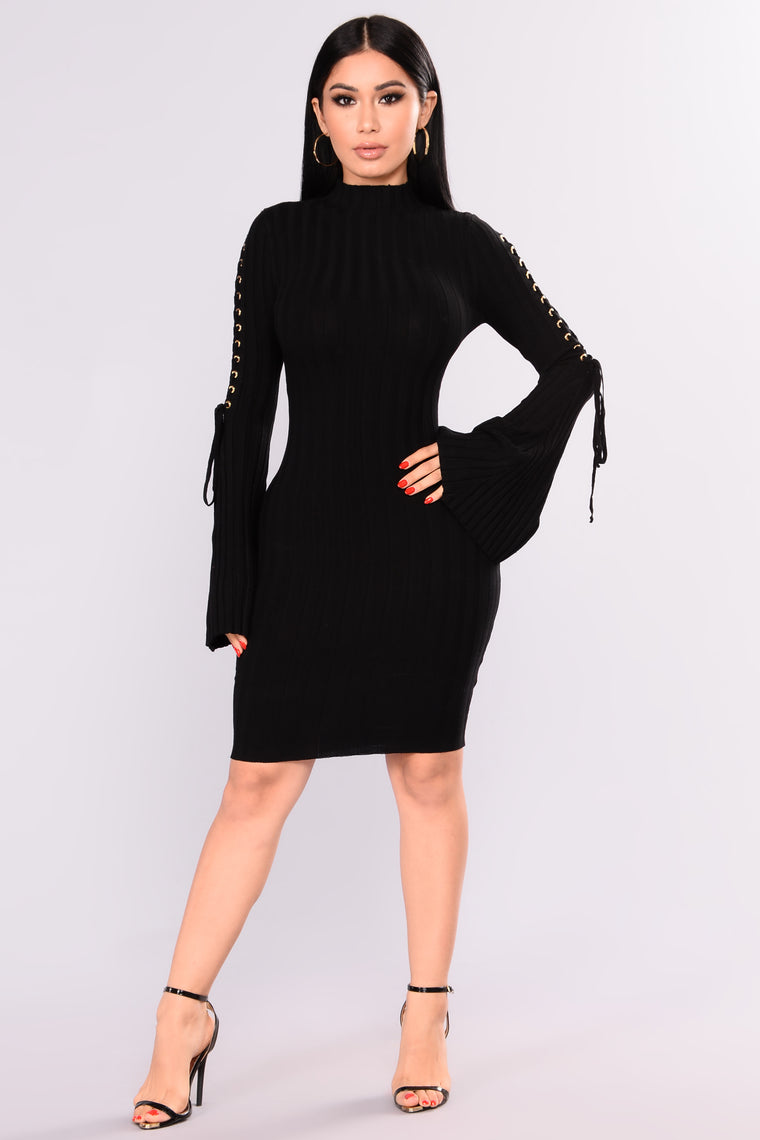 Next To Me Knit Dress - Black