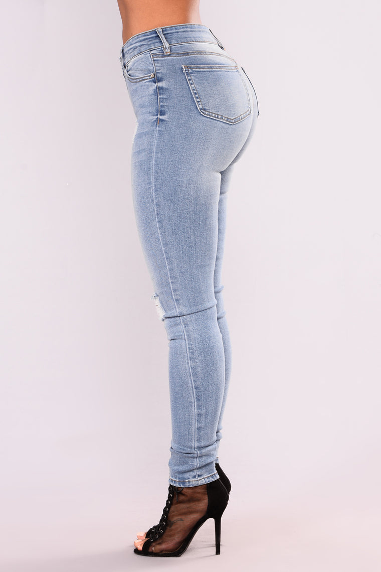 Nostalgia Skinny Jeans - Medium Blue Wash