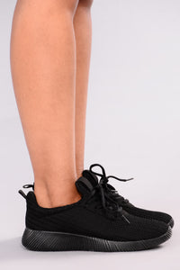 Kick It Up Sneakers - Black