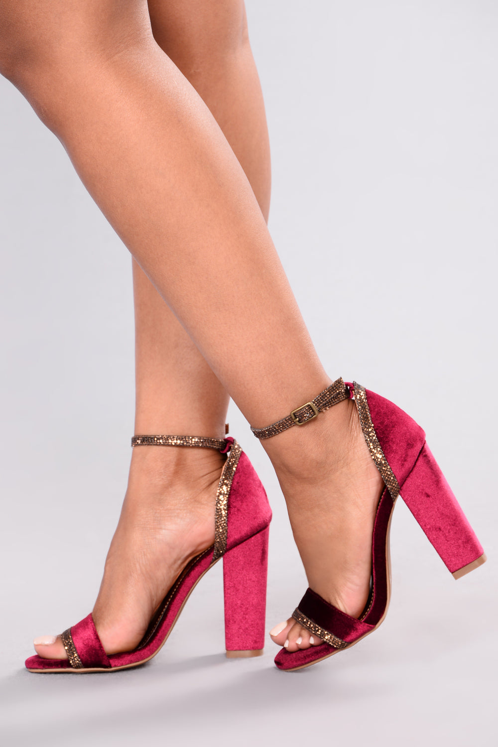 Vibe With Me Velvet Heel - Wine