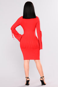 Next To Me Knit Dress - Red