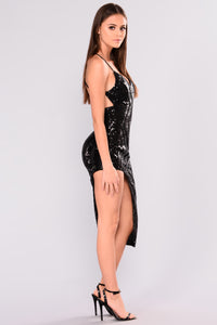 Lauryn Sequin Dress - Black