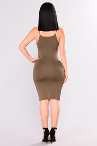 Louisa Mini Dress - Olive