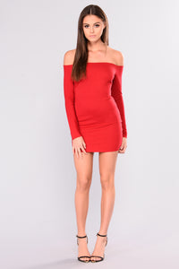 Jillian Bodycon Dress - Red