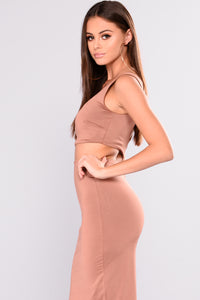 Reverly Skirt Set - Chocolate