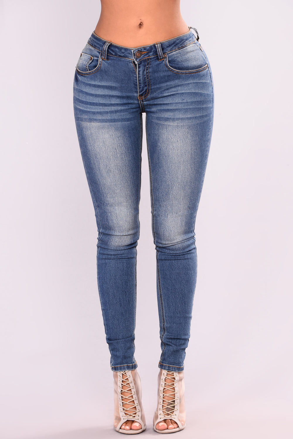 Good Idea Skinny Jeans - Medium Blue Wash