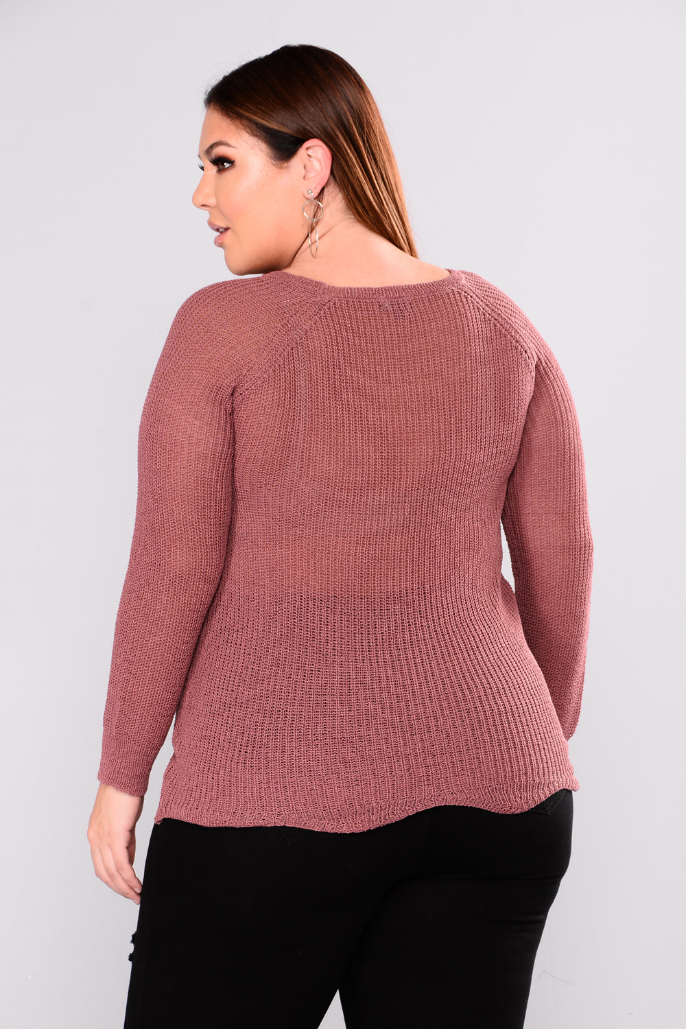 Be Right There Sweater - Mauve