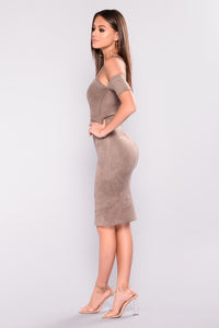 Kaiden Suede Dress - Stone
