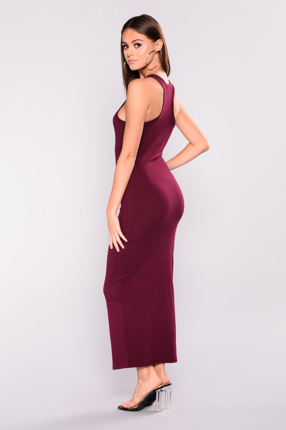 Catch Needs Midi Dress - Wine