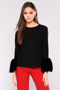 Having A Moment Sweater - Black