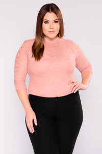 Keeping It Classy Lace Top - Mauve