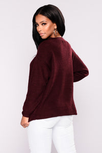 Do It Again Sweater - Plum